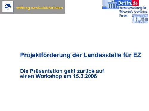 Workshopunterlagen - Stiftung Nord-Süd-Brücken