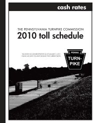 Toll Book 2010 - The Pennsylvania Turnpike