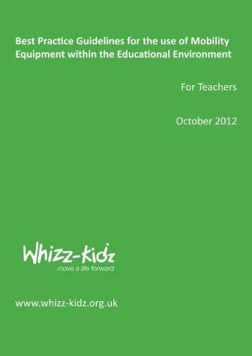 """Best Prac""""ce Guidelines for the use of Mobility ... - Whizz-Kidz"""