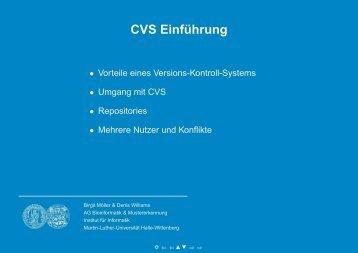 CVS Einführung - Institut für Informatik - Martin-Luther-Universität ...