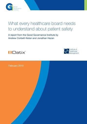 Good Governance Institute report
