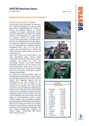 Bericht zum letzten Rennen (PDF-Datei) - Aristo