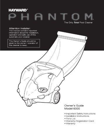 Hayward Phantom™ - The Only Total Pool Cleaner ... - Hayward Pools