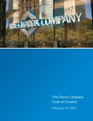 The Clorox Company Code of Conduct