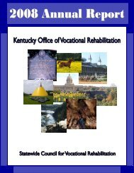 2008 Annual Report - Kentucky: Office of Vocational Rehabilitation
