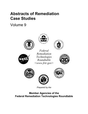 FRTR: Abstracts of Remediation, Voilume 9 - Federal Remediation ...