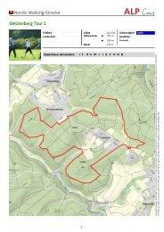 Nordic Walking-Strecke Stelzenberg Tour 1 - Zentrum Pfälzerwald