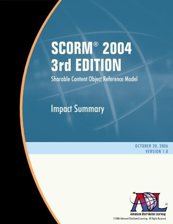 SCORM 2004 3rd Edition - Advanced Distributed Learning