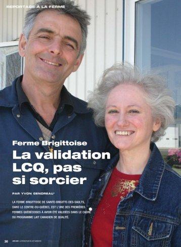 La validation LCQ, pas si sorcier - Fédération des producteurs de ...