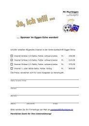 FCF-Sponsoring Eggen Echo - FC Flurlingen