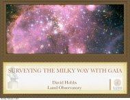 David Hobbs - Lund Observatory