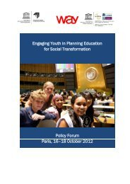 Engaging Youth in Planning Education for Social ... - IIEP - Unesco