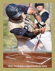 2013 Pitt-Bradford Baseball Media Guide - University of Pittsburgh ...