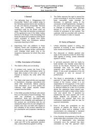 General Terms and Conditions of Sale L. Brüggemann KG