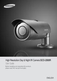 High Resolution Day & Night IR Camera SCO ... - DOMUSWIRE