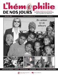 Automne 2005 - Société Canadienne de l'Hémophilie