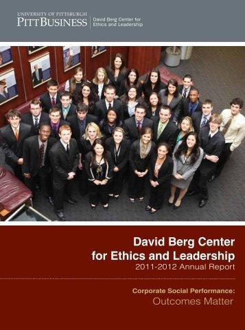 Annual Report 2011-2012 - Pitt Business - University of Pittsburgh