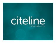 1 | Citeline Đ 2011. All rights reserved. - Pharma Competitive ...