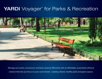 Voyager for Parks & Recreation - Yardi