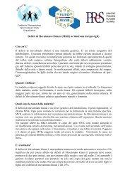 Deficit di Mevalonato Chinasi (MKD) (o Sindrome da Iper ... - PRINTO