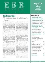 ESR Review Volume 9 No 2 - June 2008 - Community Law Centre