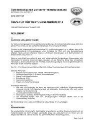 Reglement ÖMVV-CUP 2014