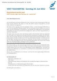 VDST-TAUCHERTAG -Sonntag 24. Juni 2012 - BLTV