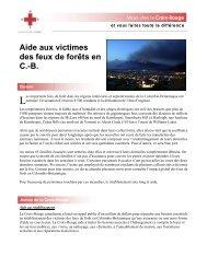 Aide aux victimes des feux de forêts en C.-B. - Croix-Rouge ...