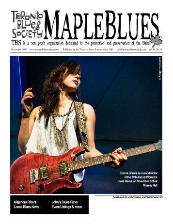 November 2010 - Toronto Blues Society
