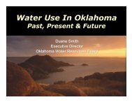Water Use in Oklahoma: Past, Present, and Future