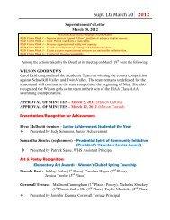 March 20, 2012 - WilsonSD.org
