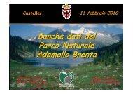 Banche dati del Parco Naturale Adamello Brenta Banche dati del ...