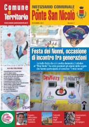 Notiziario PSN dicembre 2011-p - Comune di Ponte San Nicolò