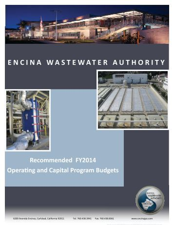 2014 Recommended Budget - Encina Wastewater Authority