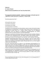 Pressestatement Dr. Stephan, Team Gesundheit ... - BKK in Bayern