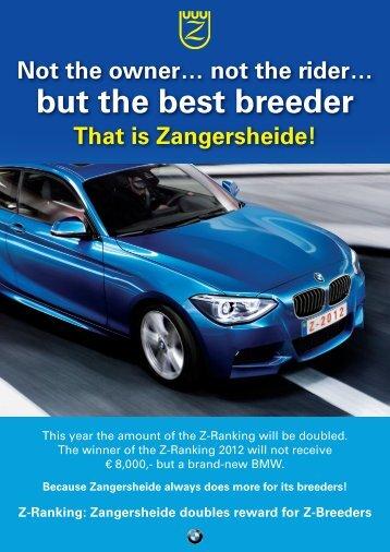 but the best breeder - Studbook Zangersheide