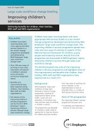 Improving children's services - NHS Employers