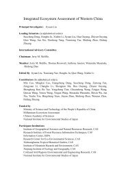 Integrated Ecosystem Assessment of Western China - Millennium ...