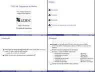 Segurança de Redes Roteiro Introduç ˜ao Ameaças - WWW2 - Udesc