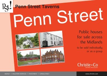 Penn Street Taverns - Christie + Co Corporate
