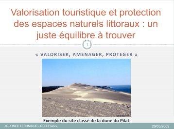 La gestion des espaces naturels littoraux dans le ... - Atout France