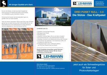 Flyer Schneefang- gitterstütze 3.0 - Otto Lehmann GmbH