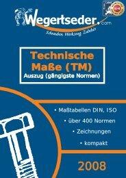 Technische Maße - Wegertseder GmbH