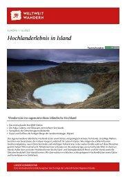 Hochlanderlebnis in Island - Weltweitwandern