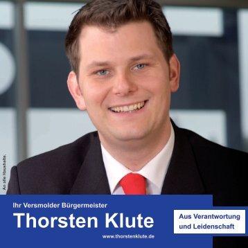 Informationsblatt von Thorsten Klute - SPD-Ortsverein Versmold