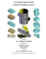 Len's Quick Guide to Solids CADKEY 19 Edition ... - TechEdu.com