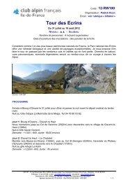 Consulter la fiche technique - Club alpin français Ile-de-France