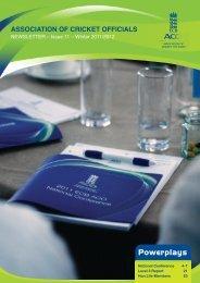 ECB ACO Newsletter - Winter 2011-2012