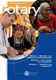 Rotary – Brücke zur Völkerverständigung? Rotary ... - Rotary Schweiz