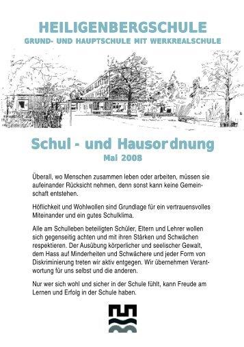 Haus und Schulordnung - Homepage